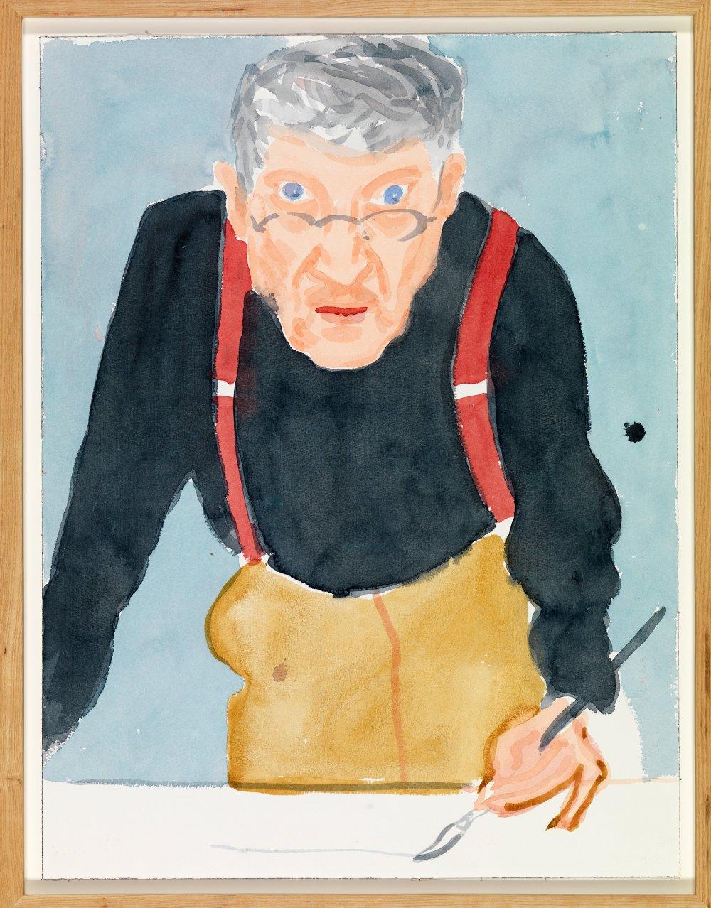 A recent self-portrait of David Hockney.