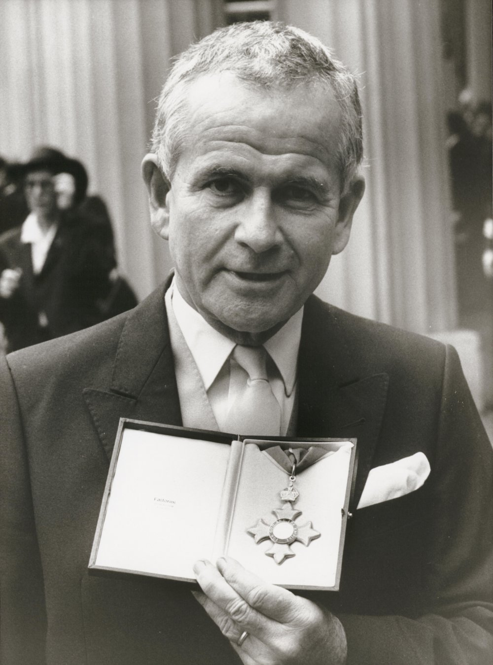 Ian Holm with his 1989 CBE (Commander of the British Empire) medal