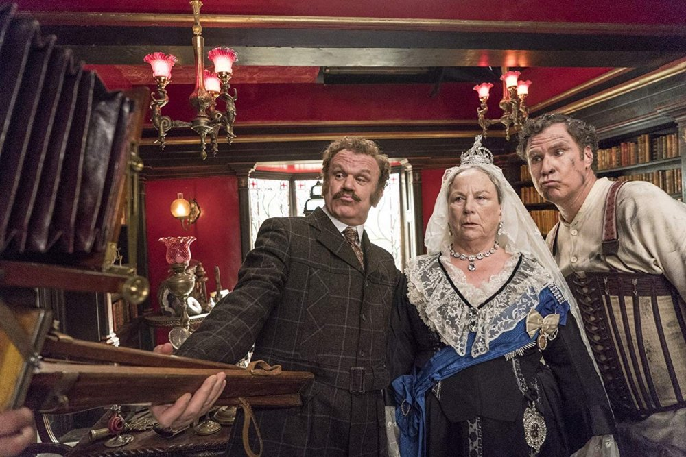 Reilly and Ferrell with Pam Ferris as Queen Victoria
