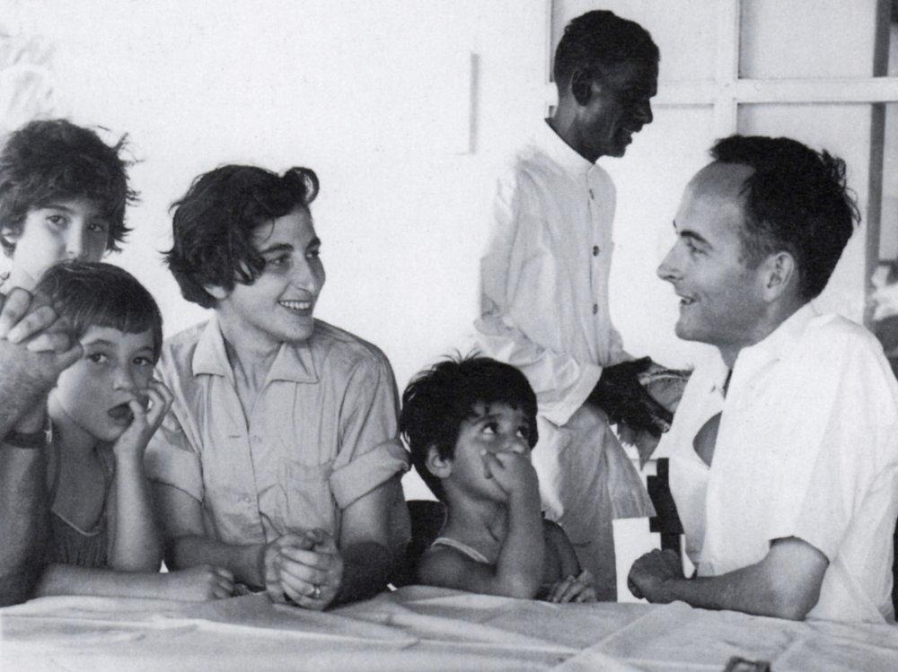 Ruth Prawer Jhabvala on location for The Householder (1963)