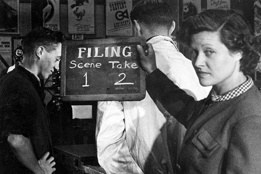 Kay Mander filming How to File (1941)