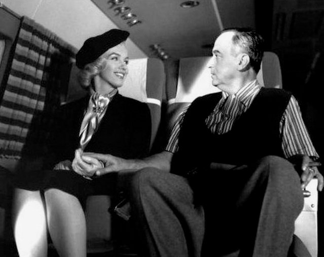 Monroe and Jean Negulesco in production on How to Marry to Millionaire (1953)
