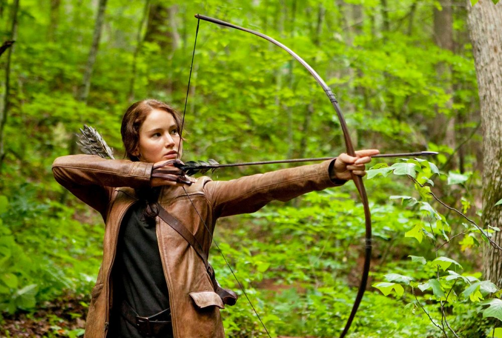 Jennifer Lawrence as Katniss in Hunger Games (2012)