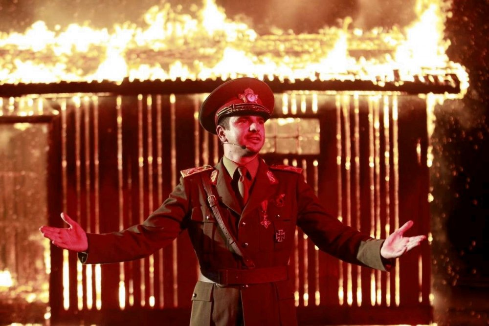 An actor plays Romania's WWII fascist despot Ion Antonescu in Radu Jude's I Do Not Care If We Go Down in History as Barbarians, a 'wild meta-textual mashup of intellectual essay, political broadside, historical investigation and expose of 'truthiness''