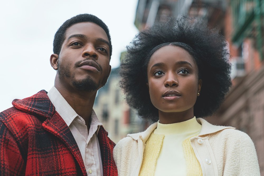 Stephan James with Kiki Layne in If Beale Street Could Talk (2018)