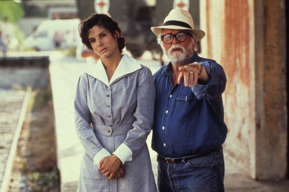 Richard Attenborough directing Sandra Bullock in In Love and War (1996)