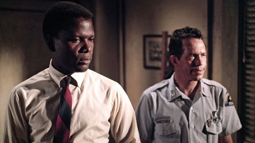 Sidney Poitier (left) in In the Heat of the Night (1967)