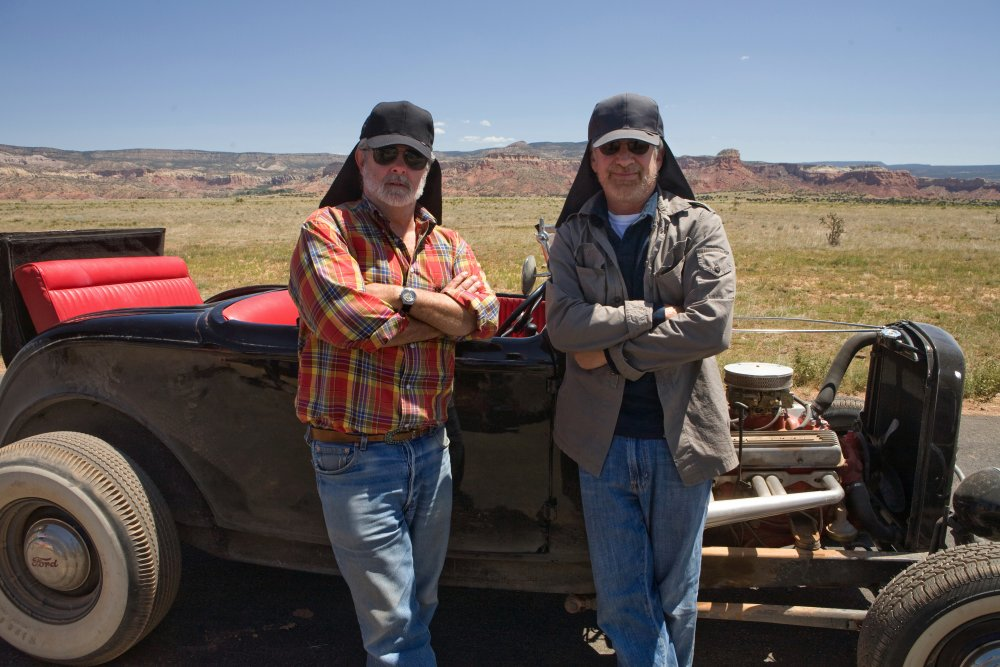 Spielberg and Lucas filming together again, on location in the deserts of the American southwest for the final film in the series