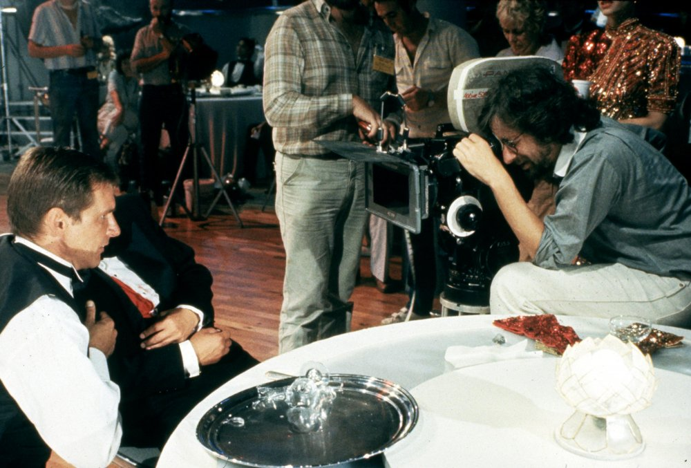 Spielberg frames a shot during the nightclub sequence after Indy's friend Wu Han is shot
