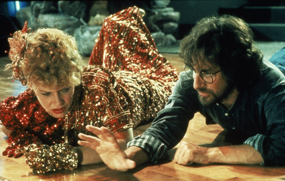 Getting down on the dancefloor: Spielberg with Kate Capshaw