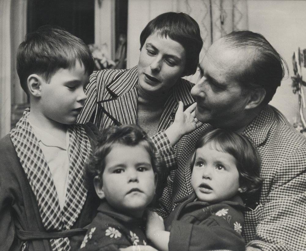 Bergman and the Rossellini family