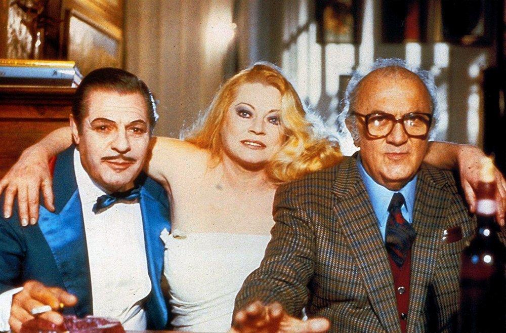 Mastroianni, Ekberg and Fellini in Intervista (1987)