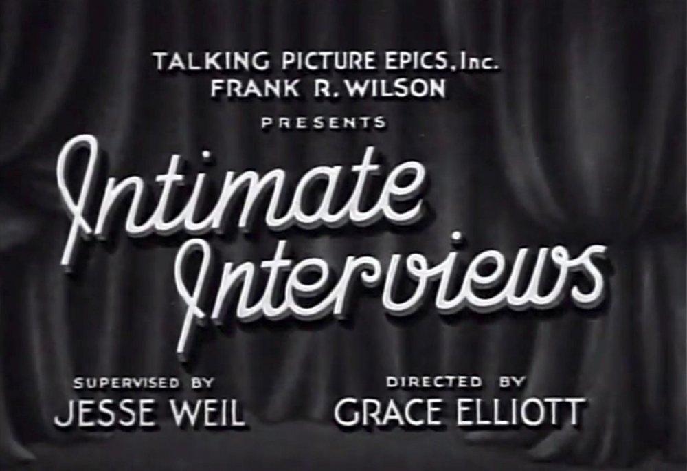 Intimate Interviews (1931)