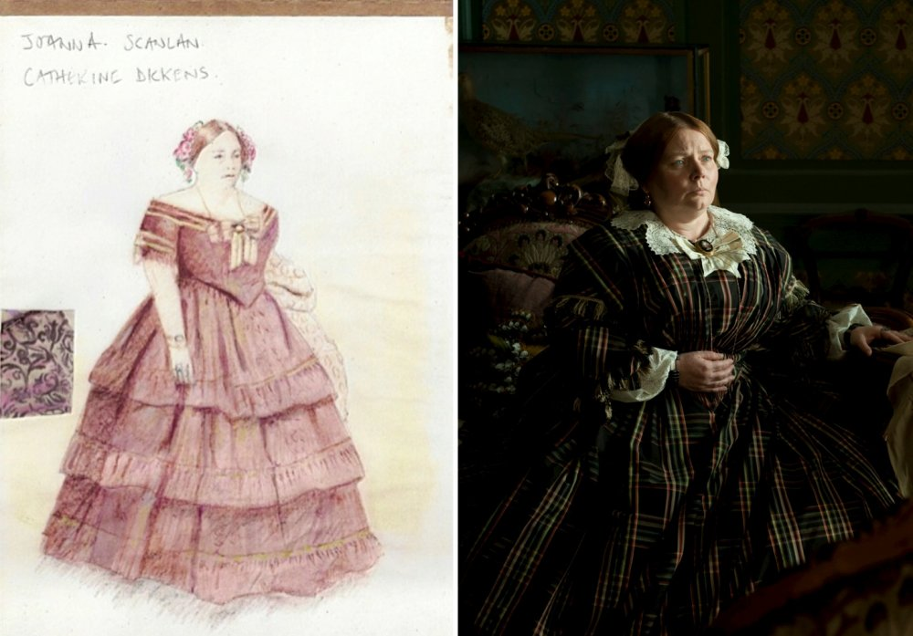 An evening dress for Dickens's wife Catherine, as played by Joanna Scanlan in the film