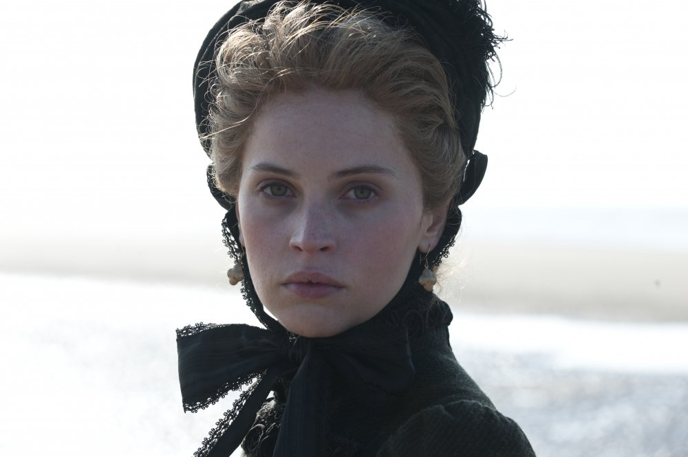 Felicity Jones as the young theatre actress Nelly Ternan who steals Dickens's heart