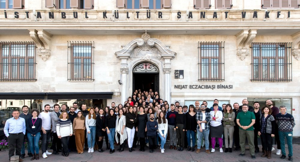 Istanbul Film Festival staff outside their headquarters