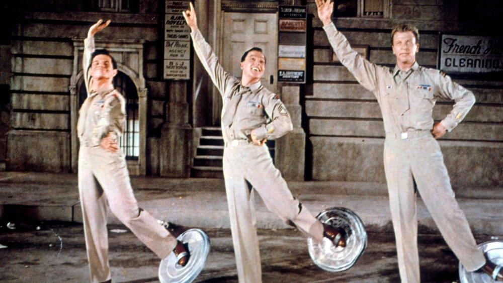 Michael Kidd, Gene Kelly and Dan Dailey in It's Always Fair Weather (1955)