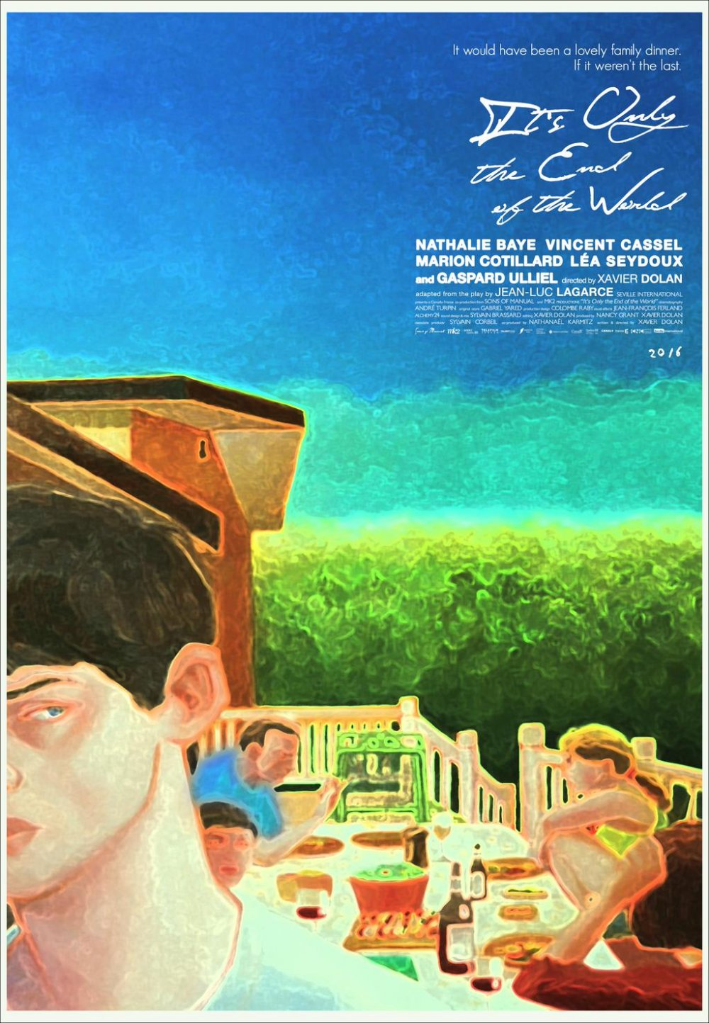 The festival poster for Xavier Dolan's It's Only the End of the World (2016)