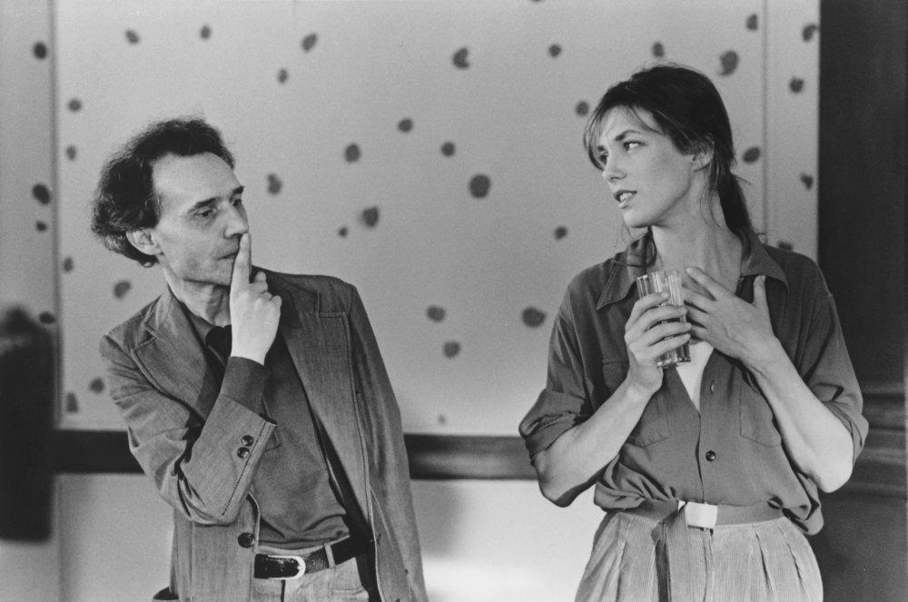 Jacques Rivette on the set of L'Amour par terre (1984)