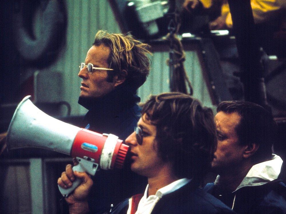 Steven Spielberg filming Jaws (1975)