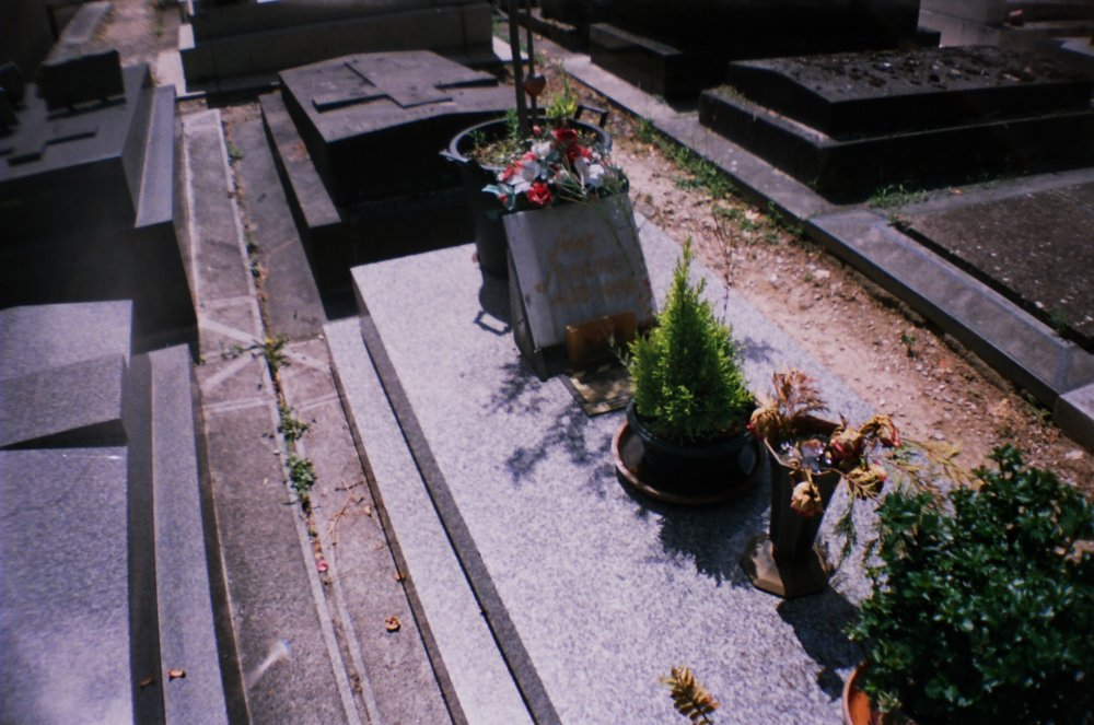 Jean Seberg's grave at the cimetière du Montparnasse, Paris