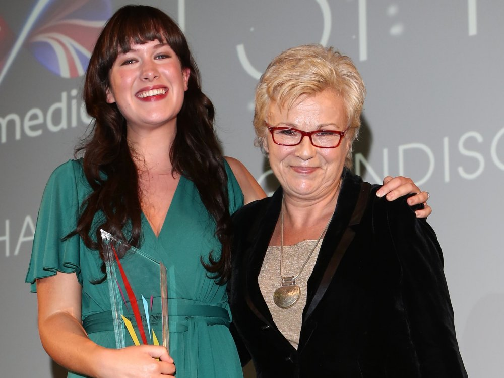 Winner Jennifer Sheridan with Julie Walters