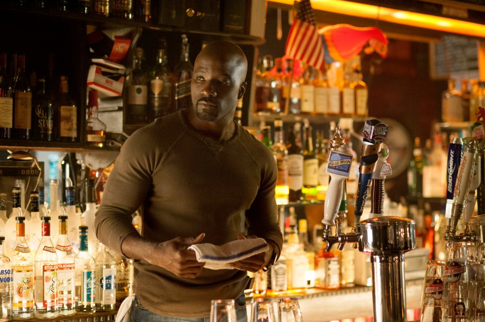 Mike Colter as super barman Luke Cage