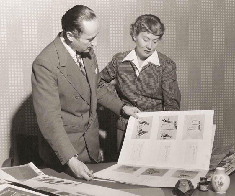 John Halas and Joy Batchelor at work