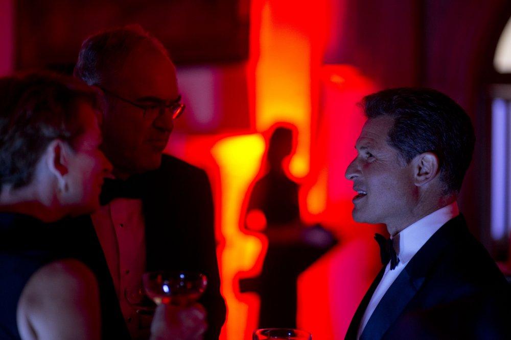 Josh Berger talking to guests at the BFI LUMINOUS Gala