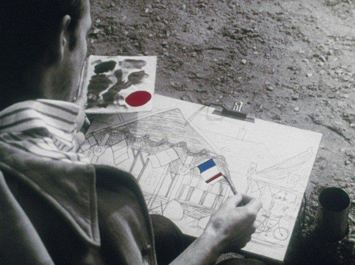 Colourised details in the 1964 version of Jour de fête