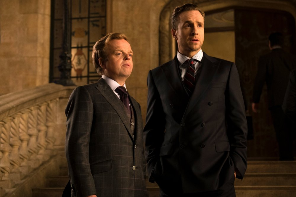 Toby Jones as Gunnar Eversol and Rafe Spall as Eli Mills