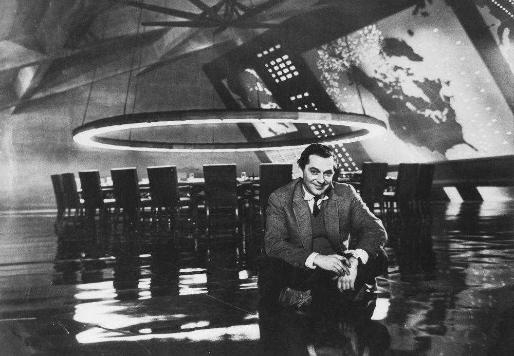 Adam on set of Stanley Kubrick's Dr. Strangelove (1964)
