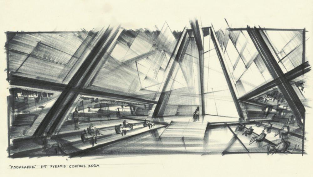 Adam's design for Moonraker's pyramid control room