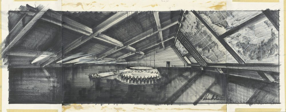 Adam's design for the war room in Dr. Strangelove