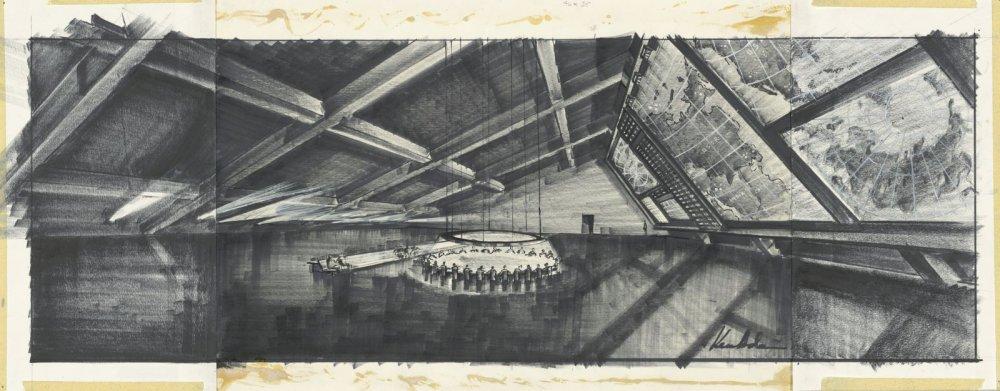 Adam's design for the war room in Dr. Strangelove