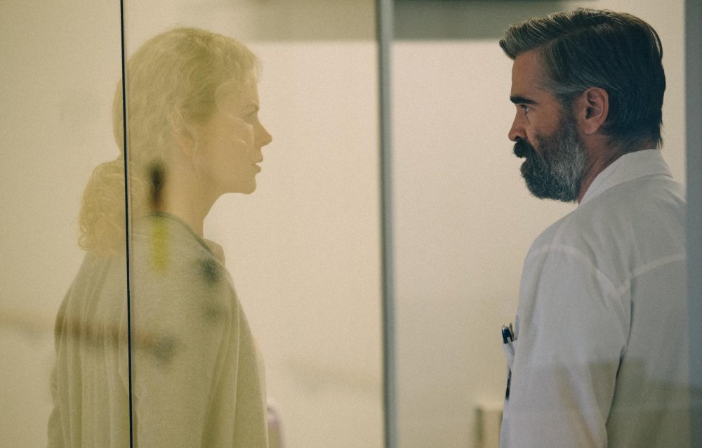 Nicole Kidman as opthamologist Anna Murphy and Colin Farrell as her heart-surgeon husband Steven in Yorgos Lanthimos's The Killing of a Sacred Deer