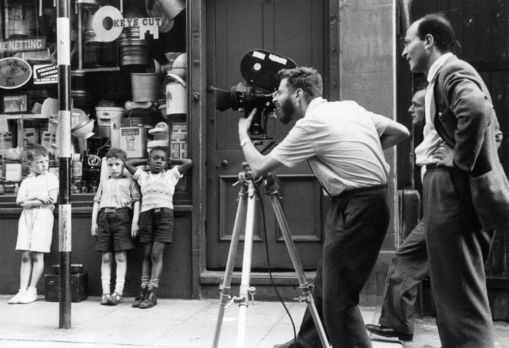 Walter Lassally and Karel Reisz shooting We Are the Lambeth Boys (1959)