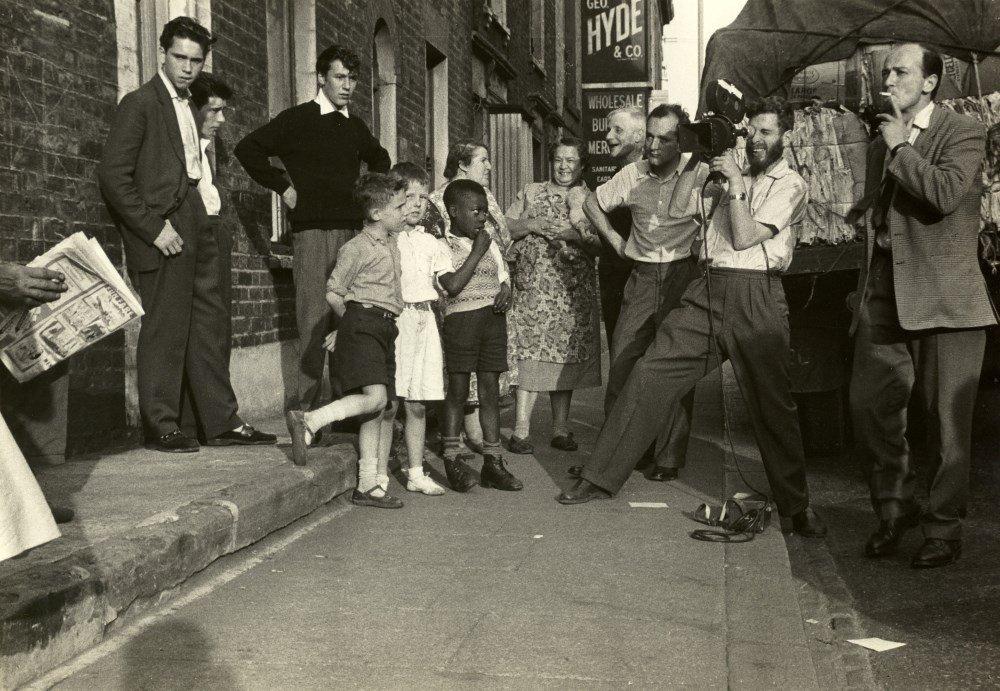 Walter Lassally and Karel Reisz shooting We Are the Lambeth Boys (1959)