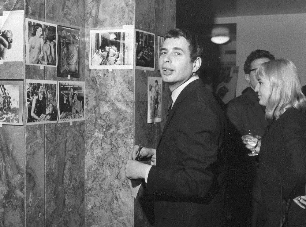 Walter Lassally with his agent Kate Campbell (later his partner) at the NFT in the early 1960s