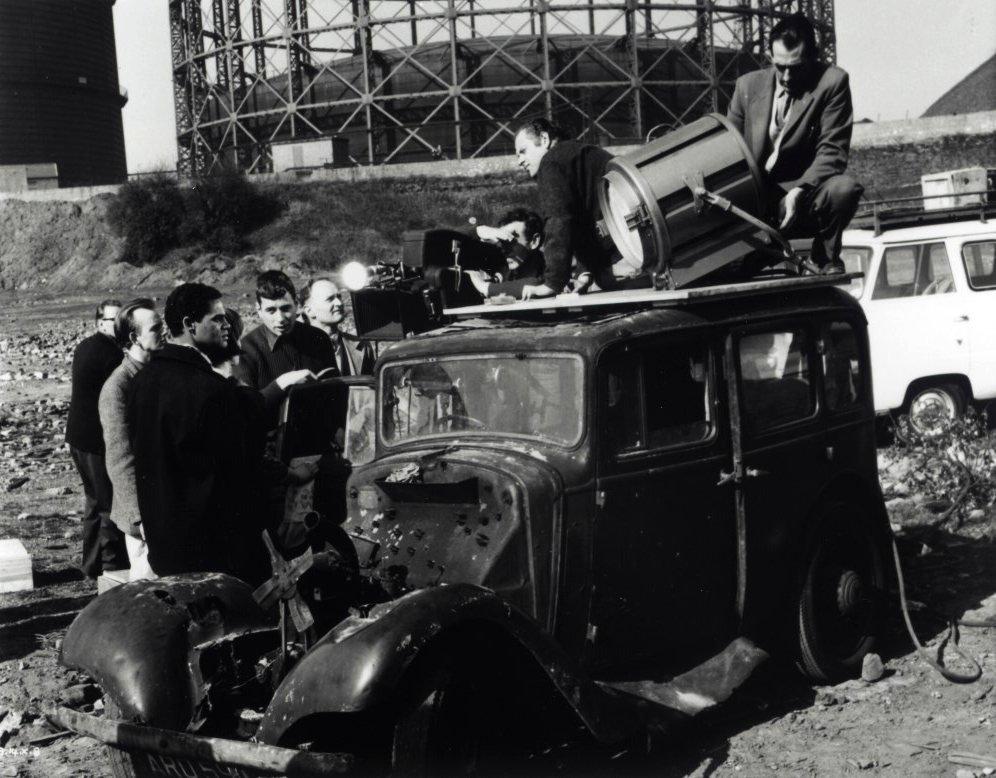 Walter Lassally on the set of Tony Richardson's A Taste of Honey in Manchester (1961)
