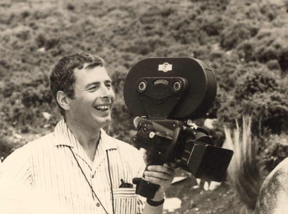 Walter Lassally filming for Michael Cacoyannis in Greece in the early 1960s