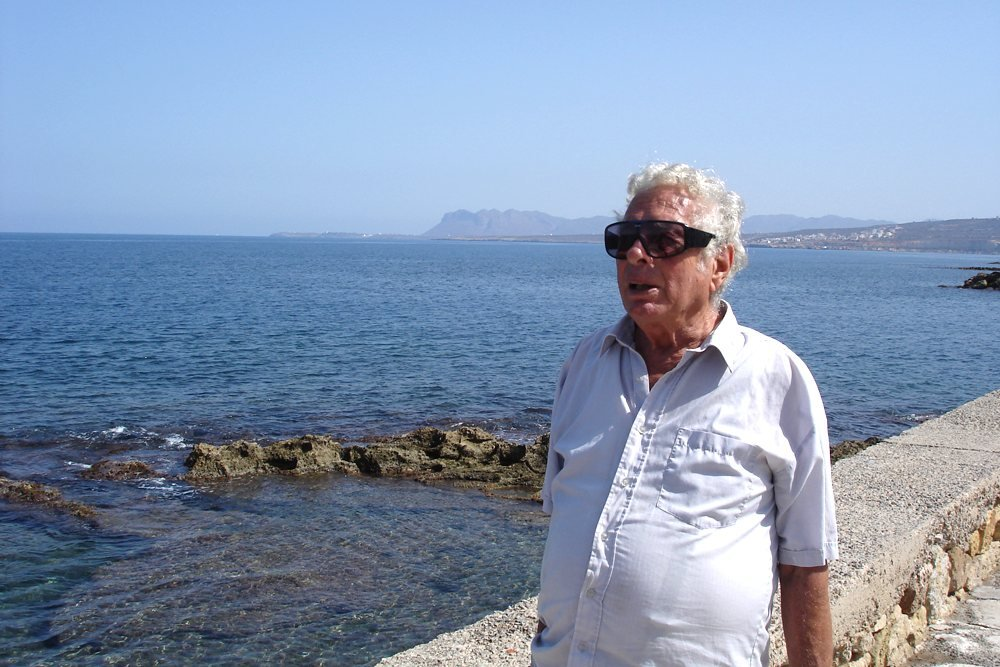 Walter Lassally in Chania, Crete, where he lived from the late 1990s to his death