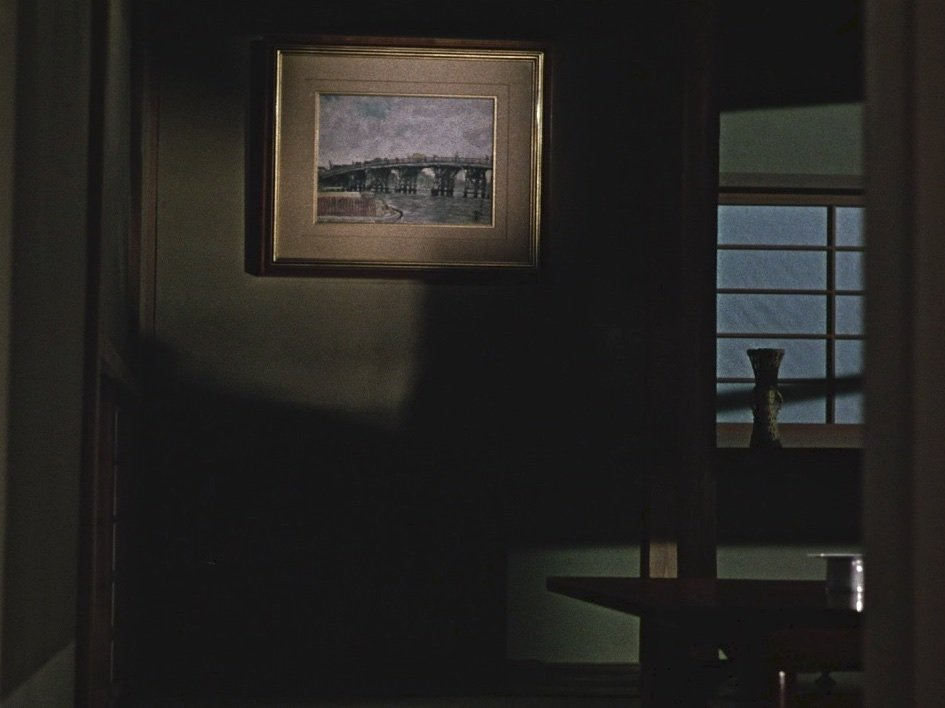 … which directly precedes this pillow shot, a repeated sequence from earlier in the film depicting empty interiors from the house where her widowed mother Akiko will now live alone