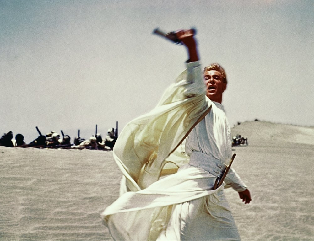 David Lean's eventual T.E. Lawrence, Peter O' Toole, in Lawrence of Arabia (1962)