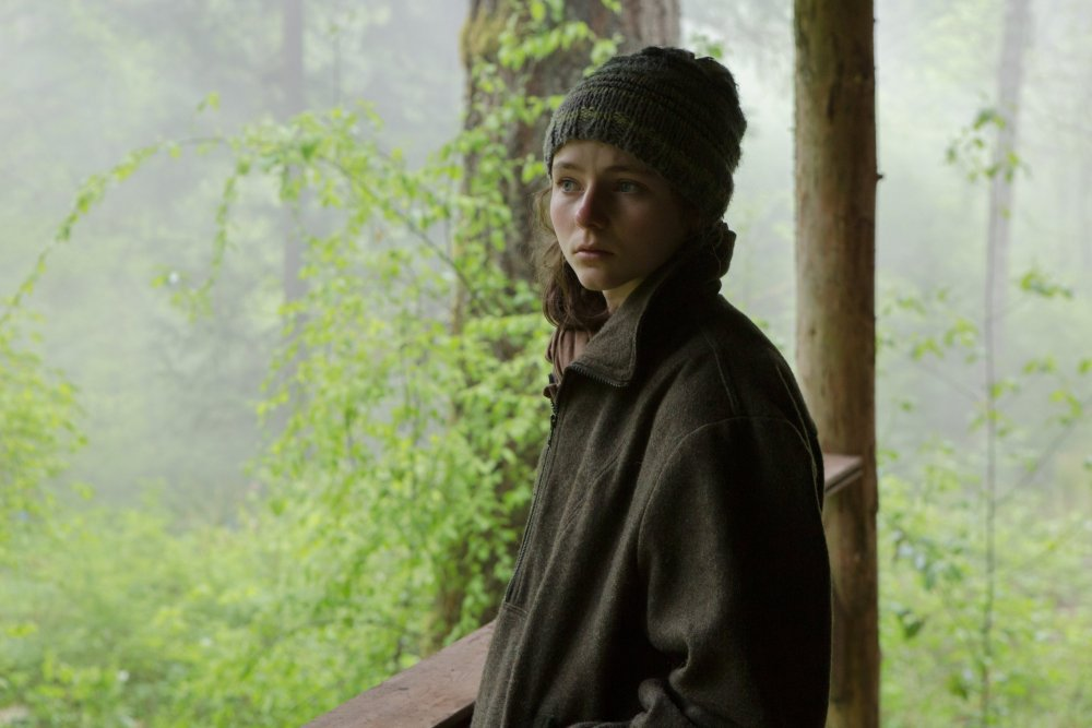 Thomasin Harcourt McKenzie as Tom in Leave No Trace