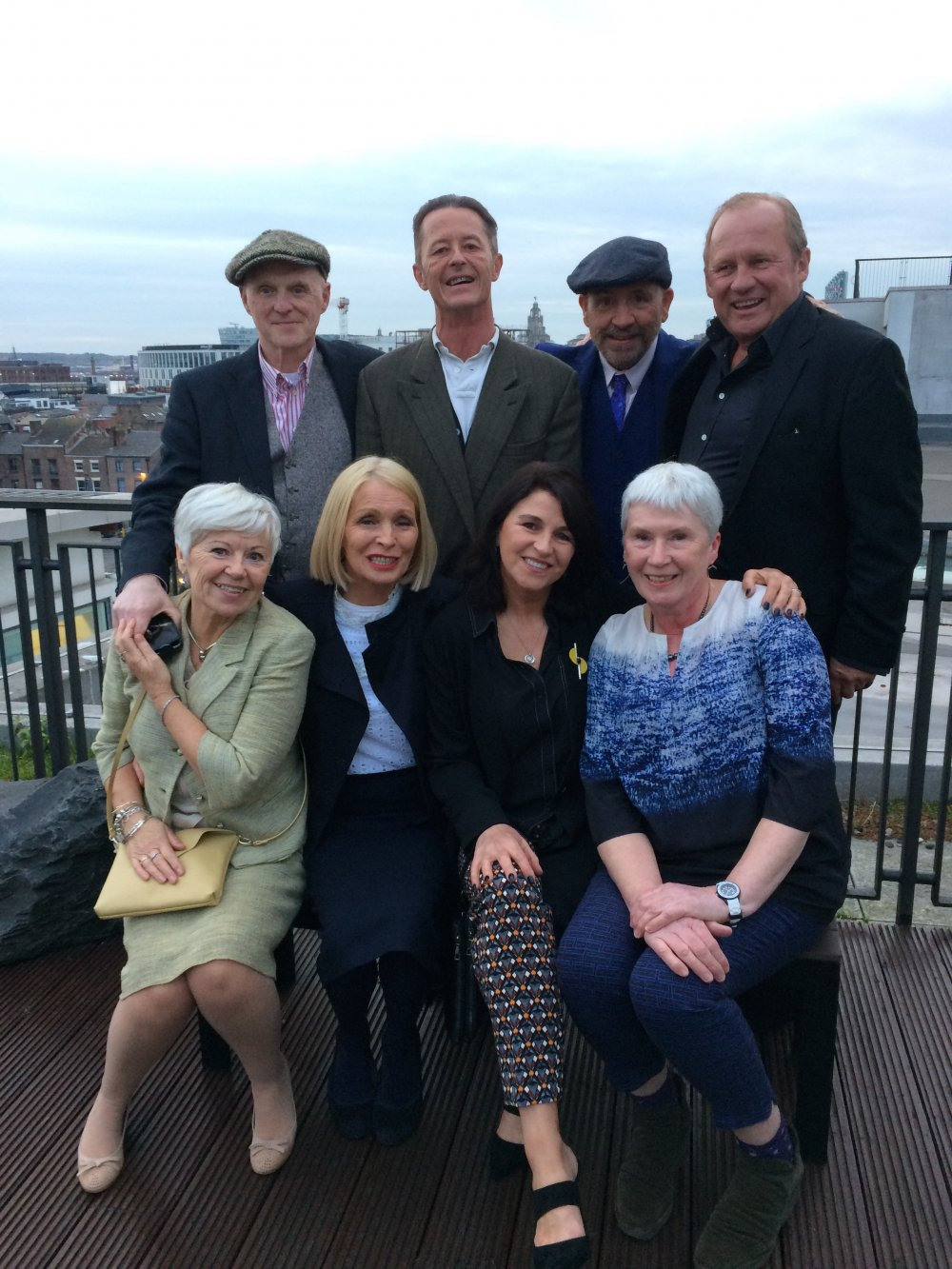 The cast and crew of Letter to Brezhnev reunited in April 2017 for a special screening at BFI Southbank. Back row (L to R): Chris Bernard, director; Charles Caselton, executive producer; Frank Clarke, writer; Peter Firth, actor. Front row (L to R): Maureen Sinclair, Clapperboard UK/Q&A host; Margi Clarke, actor; Alexandra Pigg, actor; Janet Goddard, producer