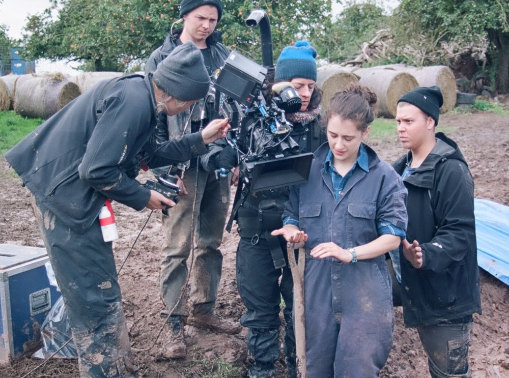 Ellie Kendrick on set