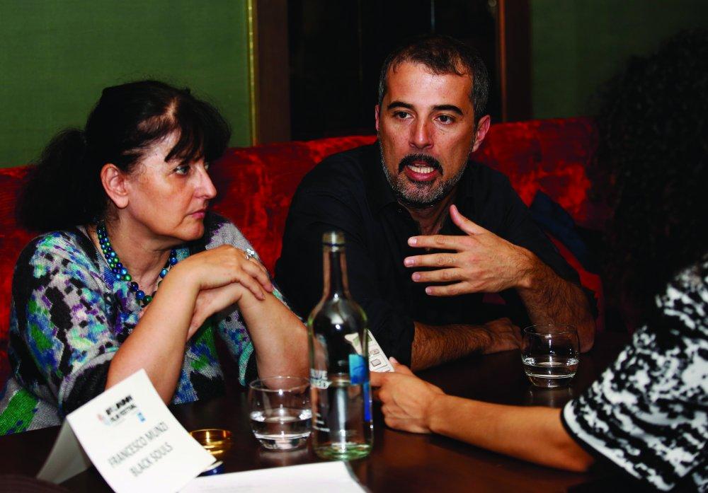 Black Souls director Francesco Munzi at the Filmmakers' Teas at the 58th BFI London Film Festival