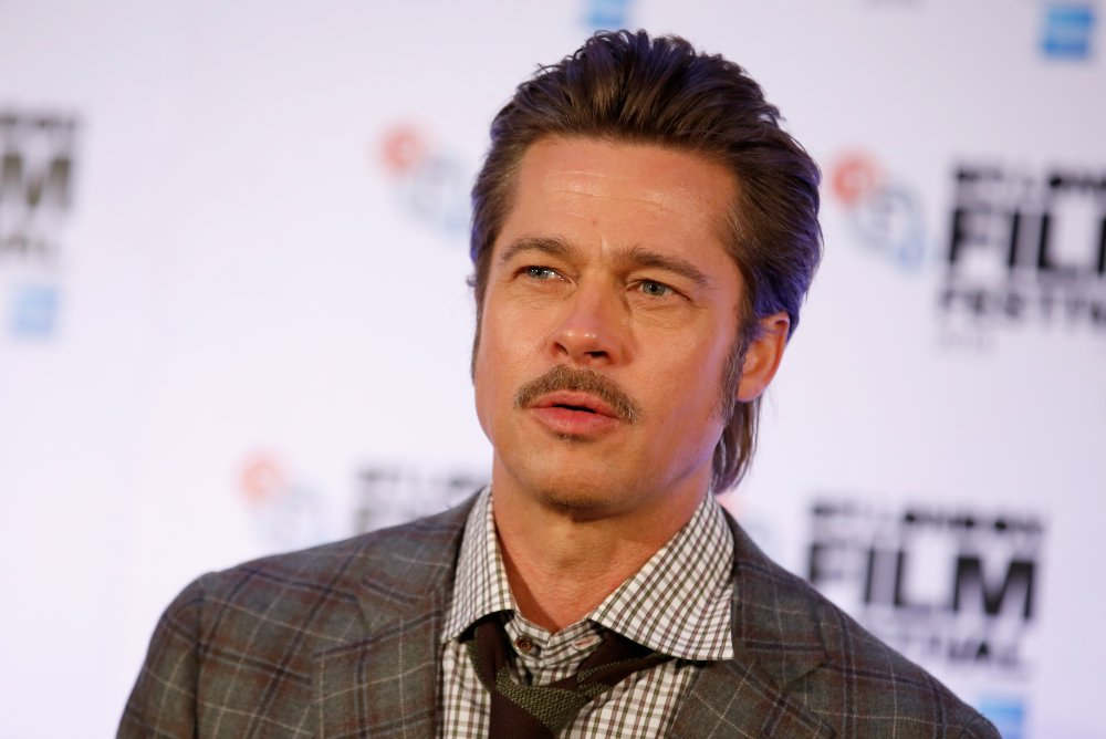 Actor Brad Pitt attends the press conference for Fury during the 58th BFI London Film Festival
