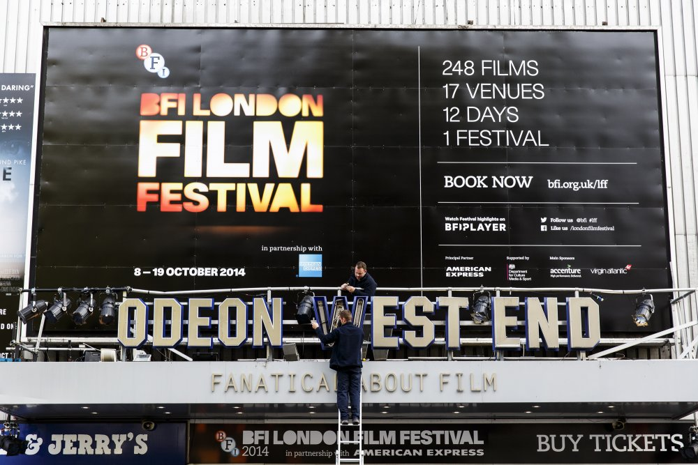 Preparing Odeon West End for the 58th BFI London Film Festival